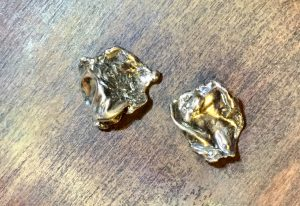 16 Sterling Silver Water-cast Post Earrings