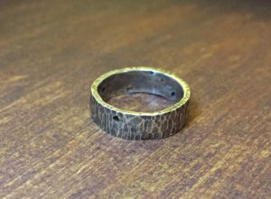 20 Sterling Silver Coin Edge Band Ring