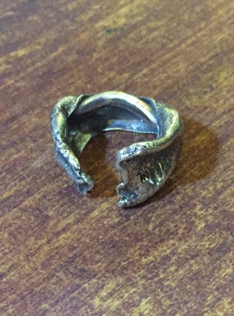 Sterling Silver Hydraulic Press Cuff Ring