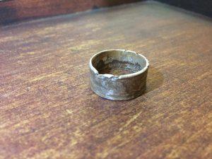 Reticulated Charcoal Cast Band Ring