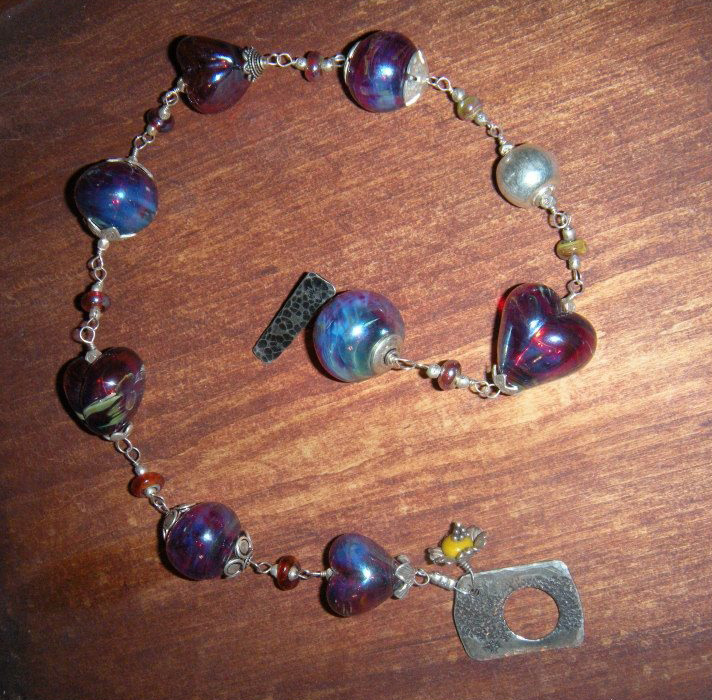 Hand Blown Italian Glass Necklace