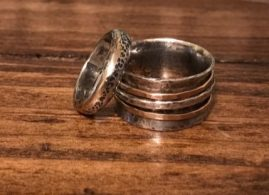 Sterling Silver 14k Gold Wedding Bands