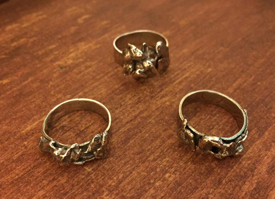 3 water cast rings. (One is spoken for... the other 2 will be at the PAW art show on Dec 10th in st Pete)