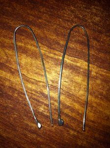 """79 Sterling Silver Deconstructed """"Erin"""" Hoops Oxidized"""